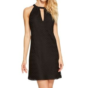 NWT Jessica Simpson Black Lace Halter Shift Dress
